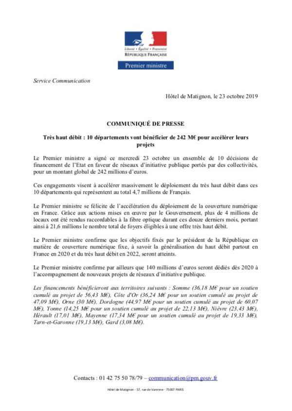 Très haut débit : L'Etat octroie 17 millions € au département de l'Hérault