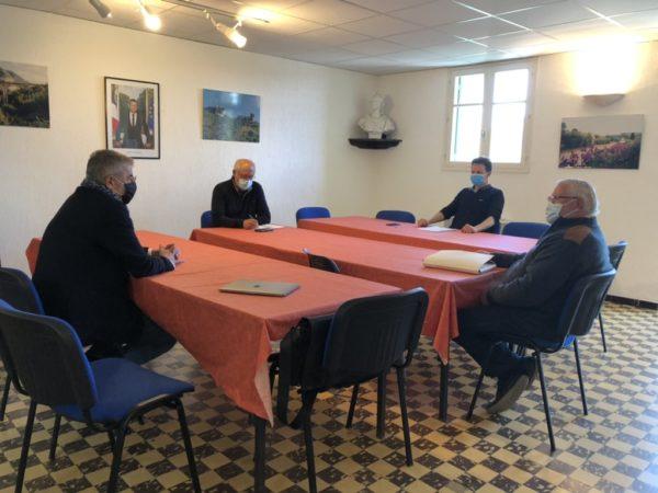 Visites auprès des maires de Poujols, Argelliers et Puechabon