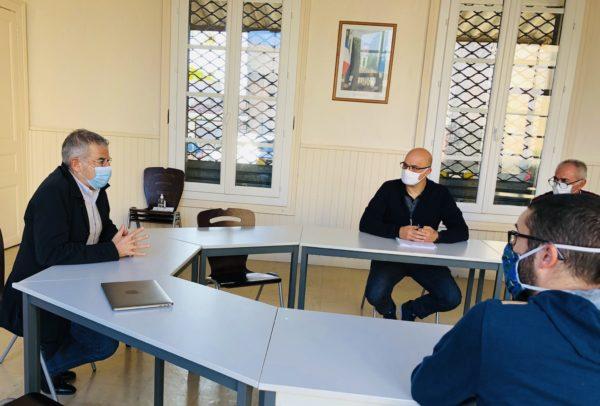 Visites des maires de la 4e circonscription : Montbazin et Bouzigues