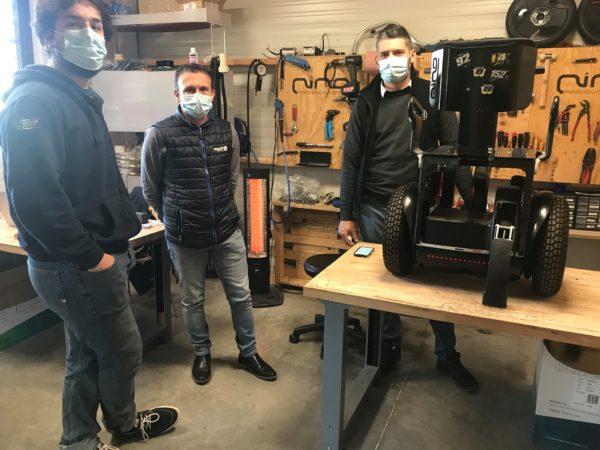 Jean-François ELIAOU à la rencontre de Nino Robotics à Soubès