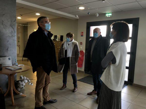 Visite des EHPAD et centres de vaccination à Ganges et à Saint-André-de-Sangonis