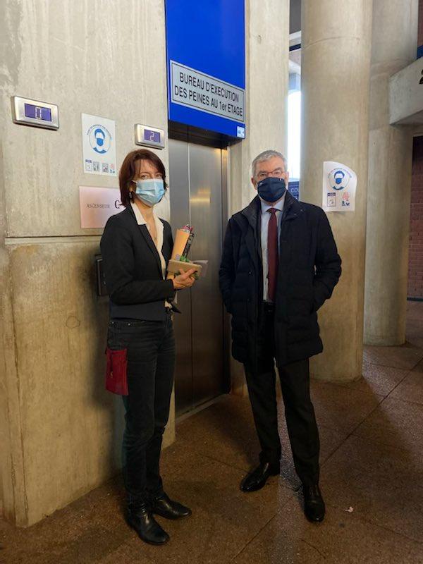 Mission d'information sur les mineurs non accompagnés : déplacement au Tribunal judiciaire de Bobigny