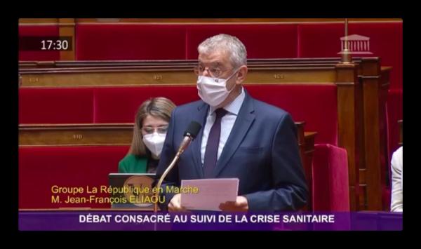 Débat sur la crise sanitaire : Jean-François ELIAOU interroge le Ministre de la Santé sur le passeport sanitaire