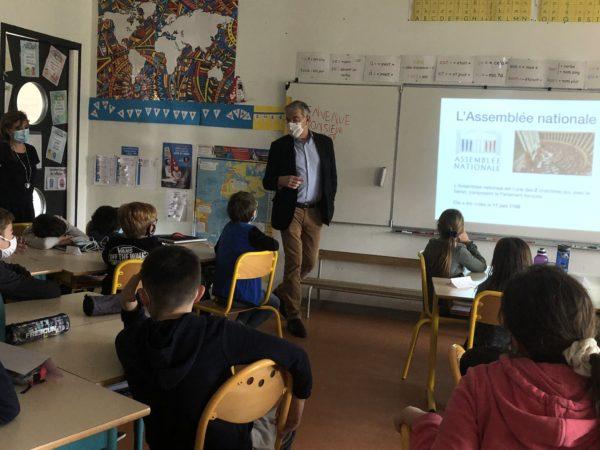 Parlement des Enfants : Jean-François ELIAOU à la rencontre des élèves de Saint-Bauzille-de-la-Sylve