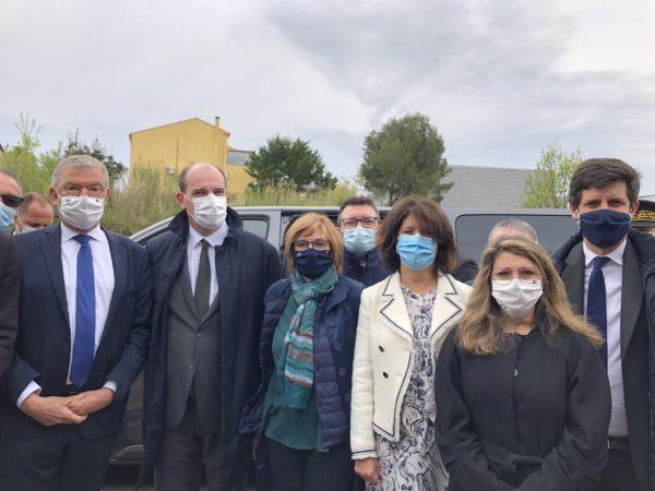 Montagnac : Visite du Premier Ministre, J. CASTEX et Ministre de l'agriculture, J. DENORMANDIE