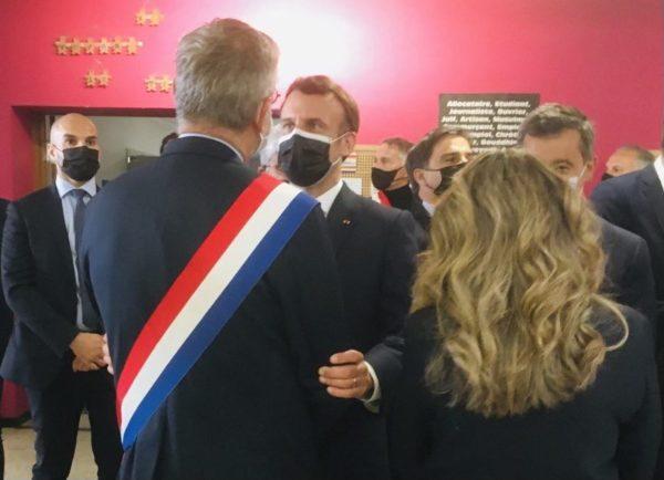Montpellier : Visite du Président de la République E. MACRON et du Ministre de l'intérieur G. DARMANIN