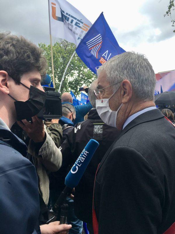 Manifestation de la Police : Jean-François ELIAOU aux côtés des forces de l'ordre
