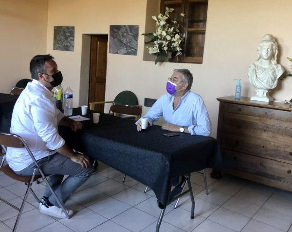 Le Bosc : Jean-François ELIOU rencontre le nouveau maire