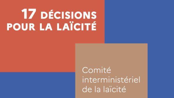 Installation par le Premier Ministre du Comité interministériel de la Laïcité
