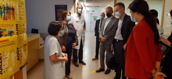 Commission d'enquête sur les migrations : visite du PASS de Saint-Antoine à Paris