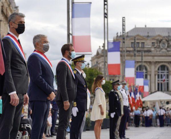 Cérémonie du 14 Juillet à Montarnaud et Montpellier